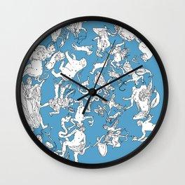 Star Constellation Map Wall Clock