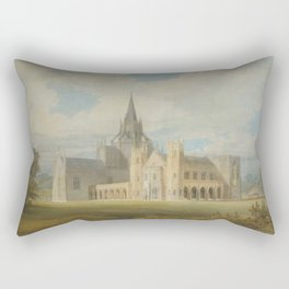 """J.M.W. Turner """"Fonthill Abbey in Wiltshire, England from the south west"""" Rectangular Pillow"""