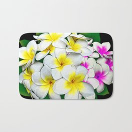 Plumeria Flowers Bouquet Bath Mat