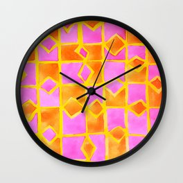 pink abstract pattern Wall Clock