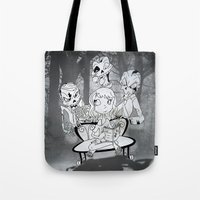 zombies Tote Bags featuring Zombies  by Alejandra Ochoa