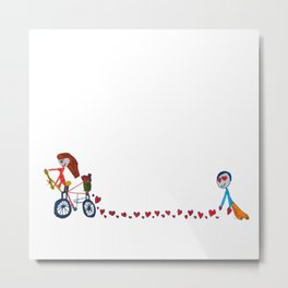 I'm in love | Be my Valentine | Kids Painting Metal Print
