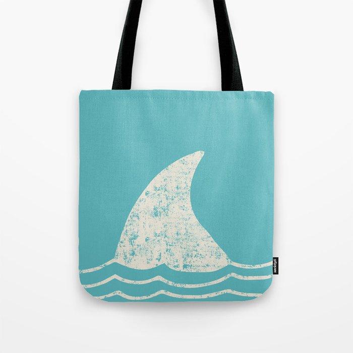 Beach Series Aqua- Shark Animal in the deep See Tote Bag