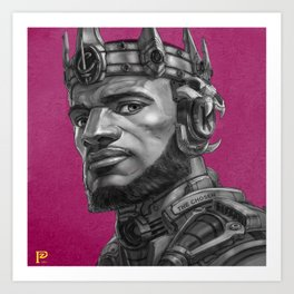 Scifi King James Art Print