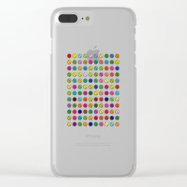 Multi-coloured Pills Pattern square Clear iPhone Case