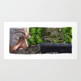 Jurassic Park - Clever Girl Art Print