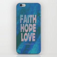 Faith,Hope,Love (Pink) iPhone & iPod Skin