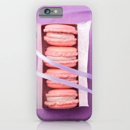 Pink macarons iPhone Case