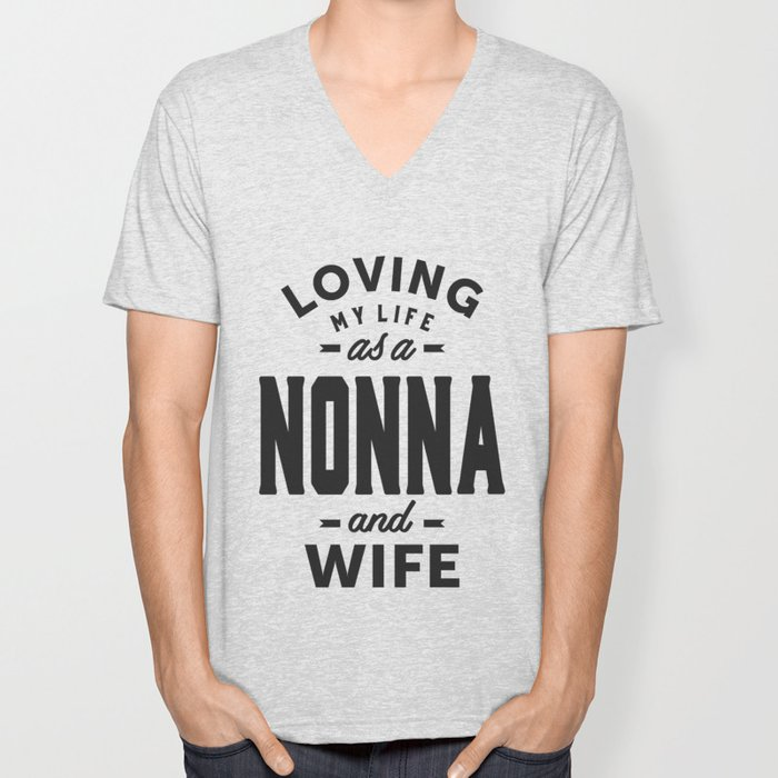 Nonna and Wife Unisex V-Neck