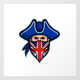 British Highwayman Wearing Bandana Mascot Art Print