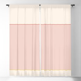 Subtle Spring Color Block Blackout Curtain