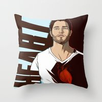 derek hale Throw Pillows featuring DEREK by kala