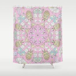 Death Spin Pink Shower Curtain