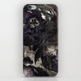 goth peony iPhone Skin