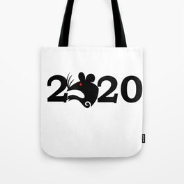 2020 Year Of The Rat Gift Design Tote Bag