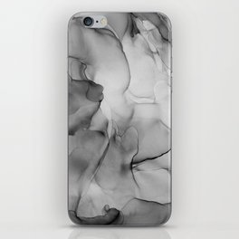 Black and White Marble Ink Abstract Painting iPhone Skin