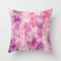 girly Throw Pillows featuring Girly! Girly! Girly! by Digi Treats 2