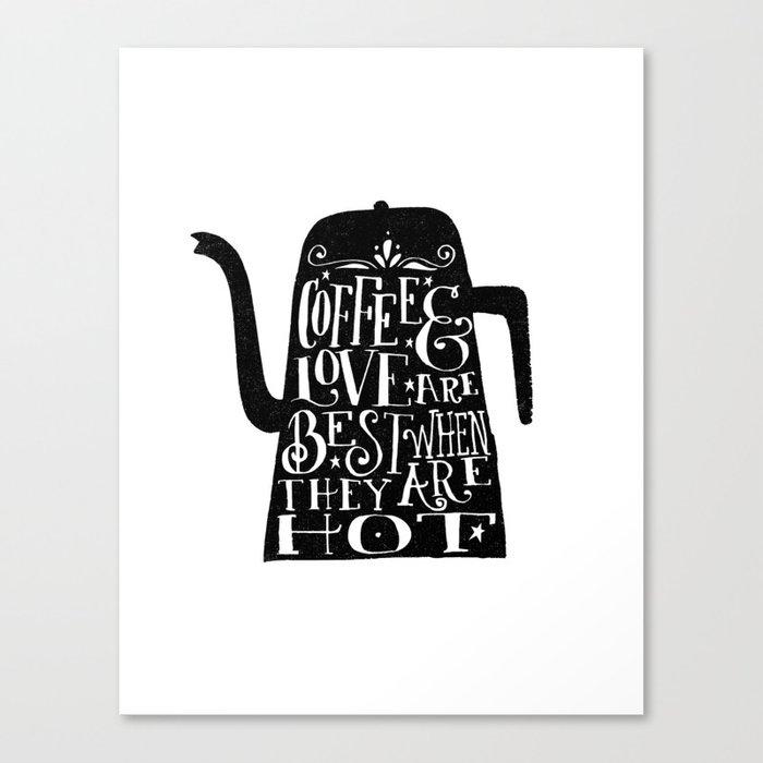 COFFEE & LOVE Canvas Print