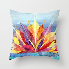 Sunrise quilt Throw Pillow