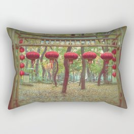 Red lanterns - Suzhou, China Rectangular Pillow