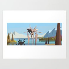 robot in tahoe Art Print