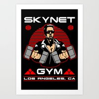 gym Art Prints featuring Skynet Gym by Buby87