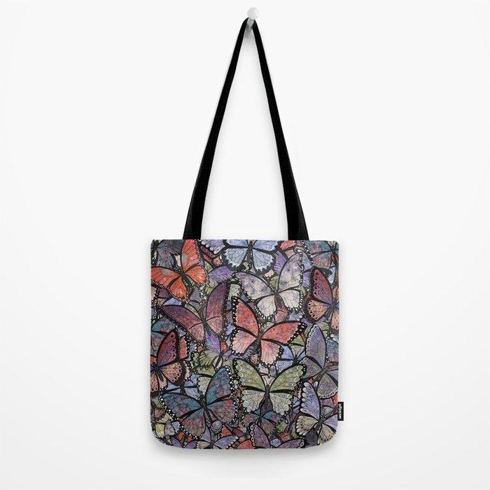 butterflies galore grunge version Tote Bag
