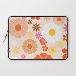 Groovy 60's Mod Pastel Flower Power Laptop Sleeve