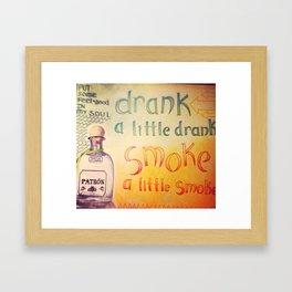 Drank Framed Art Print