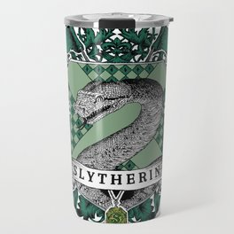 Slytherin Color Crest Travel Mug