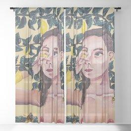 Lemon Woman Sheer Curtain
