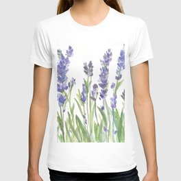 lavender garden watercolor T-shirt