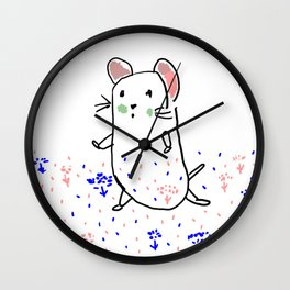 A hamster in a meadow Wall Clock