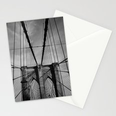 New York City, Brooklyn Bridge B/W Stationery Cards