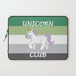 Aromantic Pride Flag Unicorn Laptop Sleeve