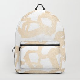 White Gold Geometric Triangle Pattern Backpack