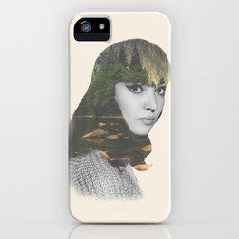 Anna Karina Nature Portrait iPhone Case