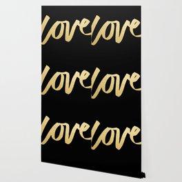 Love Gold Black Type Wallpaper