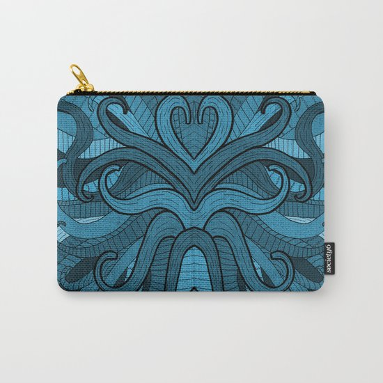 Blue Flow Carry-All Pouch