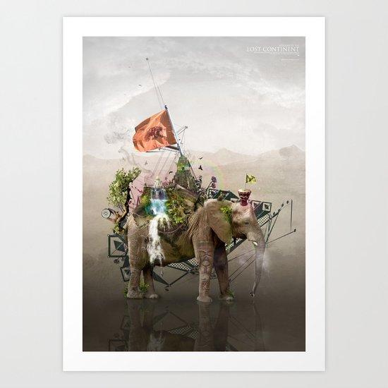 Lost Continent Art Print