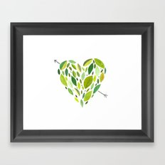 Hearts and Arrows Framed Art Print