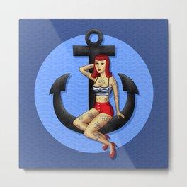Anchor Girl Metal Print