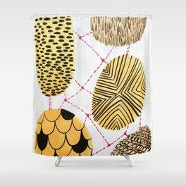 Honey Orbs Shower Curtain