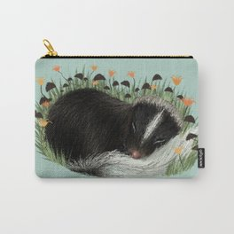 Sleeping Baby Skunk Carry-All Pouch