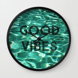 Good Vibes (Pool) Wall Clock