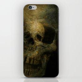 Double Exposure Skulls Photograph iPhone Skin