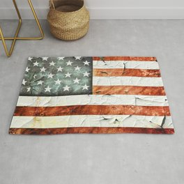 Painted Stars And Stripes Rug