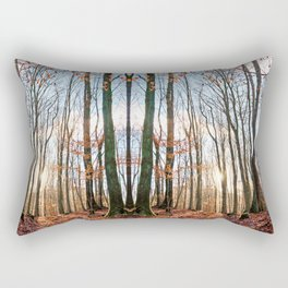 Autumnally day in a winter forest Rectangular Pillow