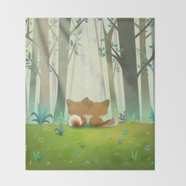 Summer Fox Throw Blanket