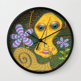 Portrait of the Artist as a Young Snail Wall Clock